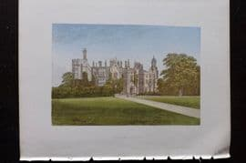 Morris Seats 1860's Antique Print. Danbury Palace